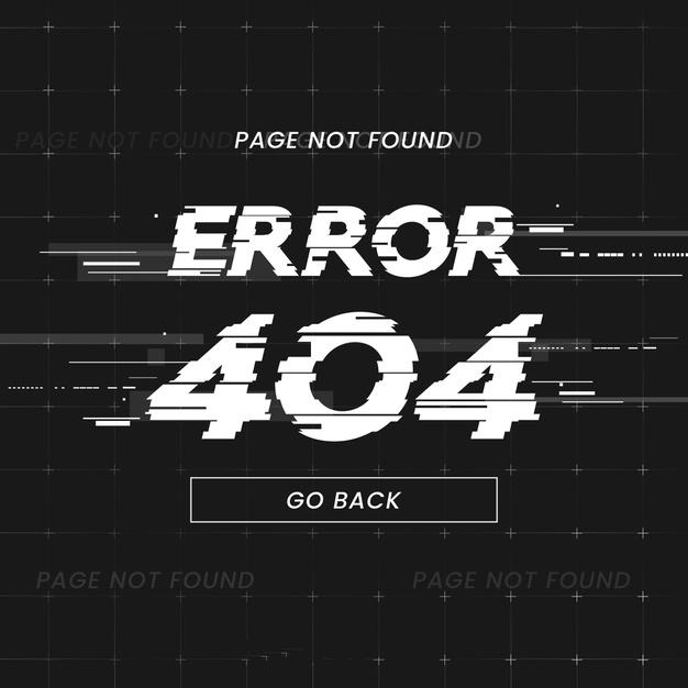 error fallos página web